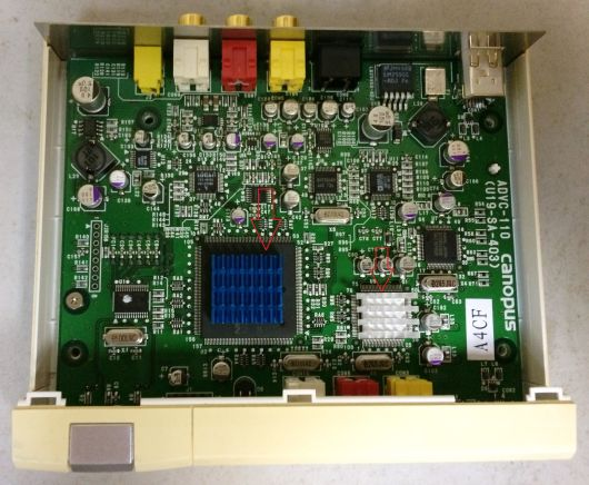 Радиаторы охлаждения для чипов Canopus ADVC-110